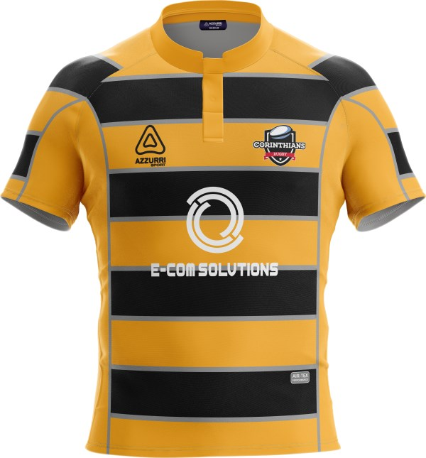 Rugby Jersey RS137 Gold Black