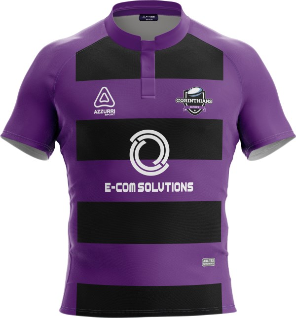 Rugby Jersey RS139 Black Purple