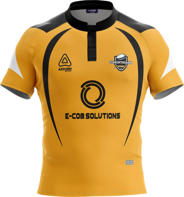 Rugby Jersey RS149 Gold Black