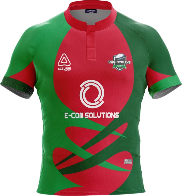 Rugby Jersey RS151 Red Emerald