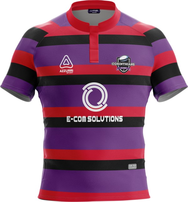 Rugby Jersey RS167 Red Black Purple