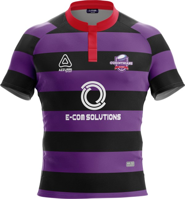 Rugby Jersey RS193 Red Black Purple