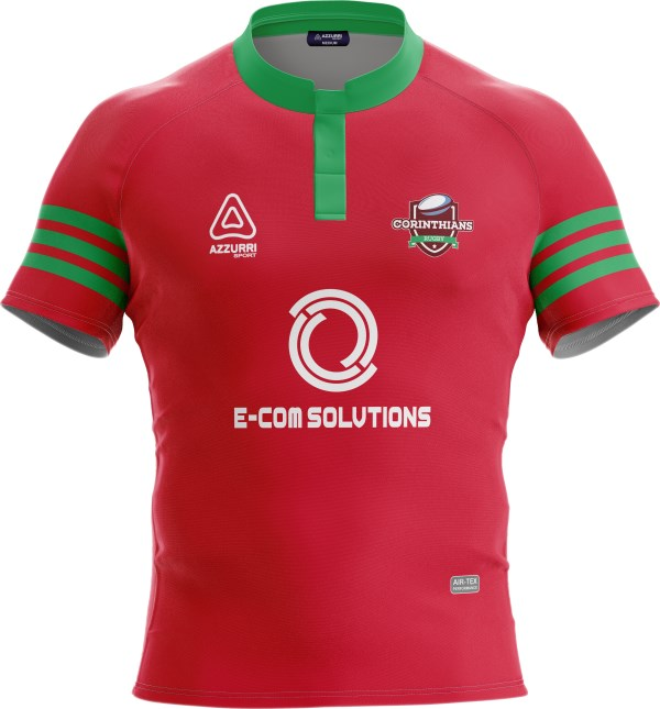 Rugby Jersey RS210 Red Emerald