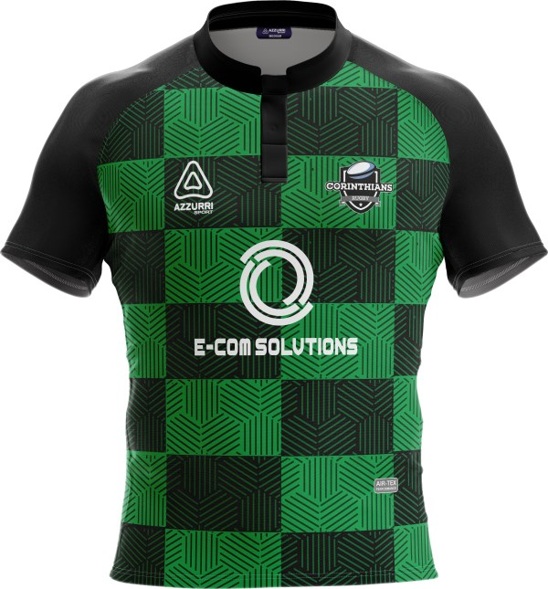Rugby Jersey RS230 Black Emerald