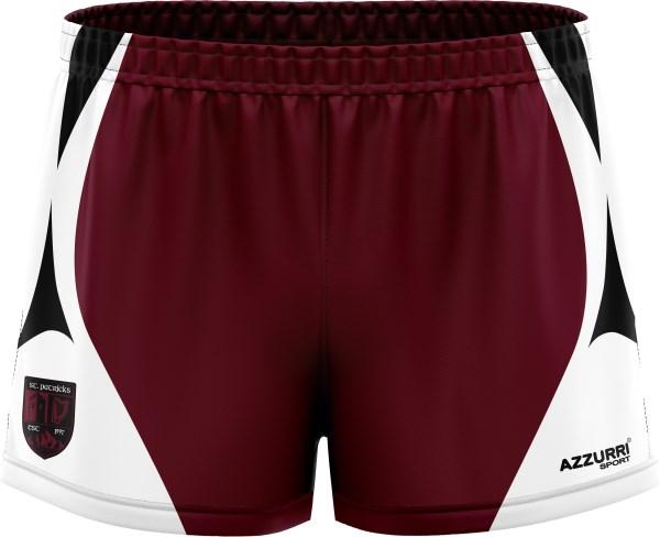 GAA Shorts SG132 Maroon White