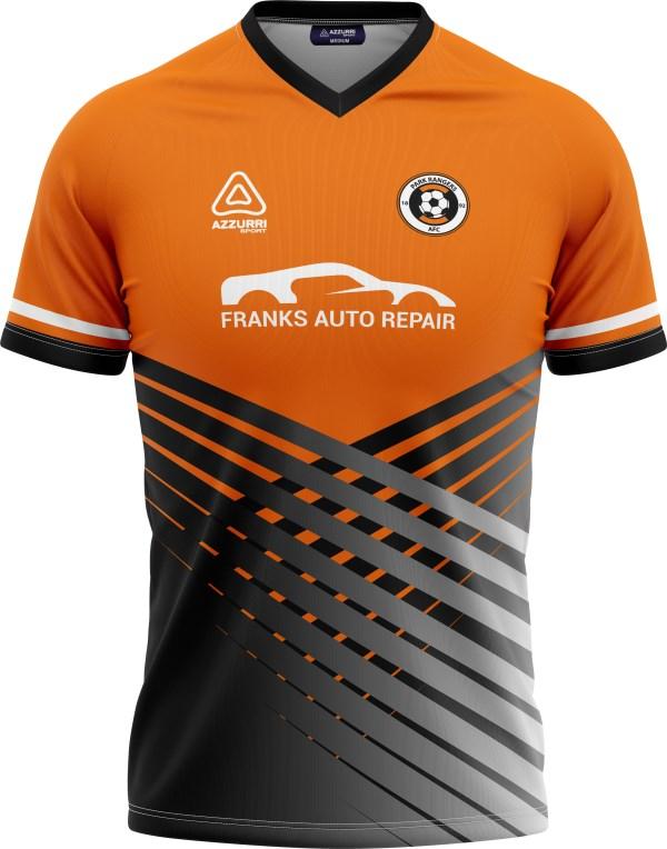Soccer Jersey SO044 Orange Black