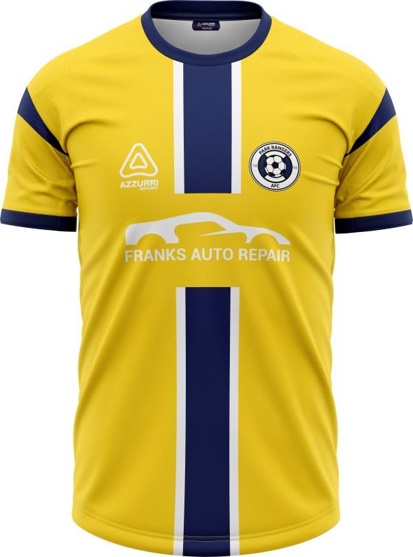 Soccer Jersey SO045 Yellow Navy