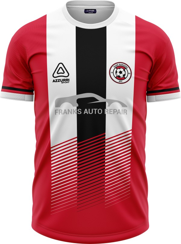 Soccer Jersey SO046 Red White