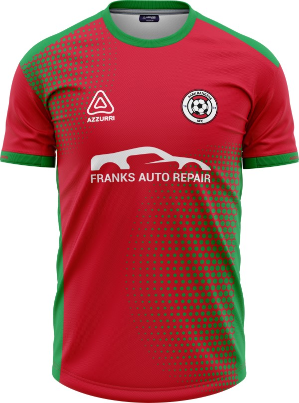 Soccer Jersey SO049 Red Emerald