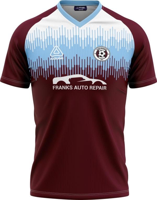 Soccer Jersey SO052 Sky Maroon