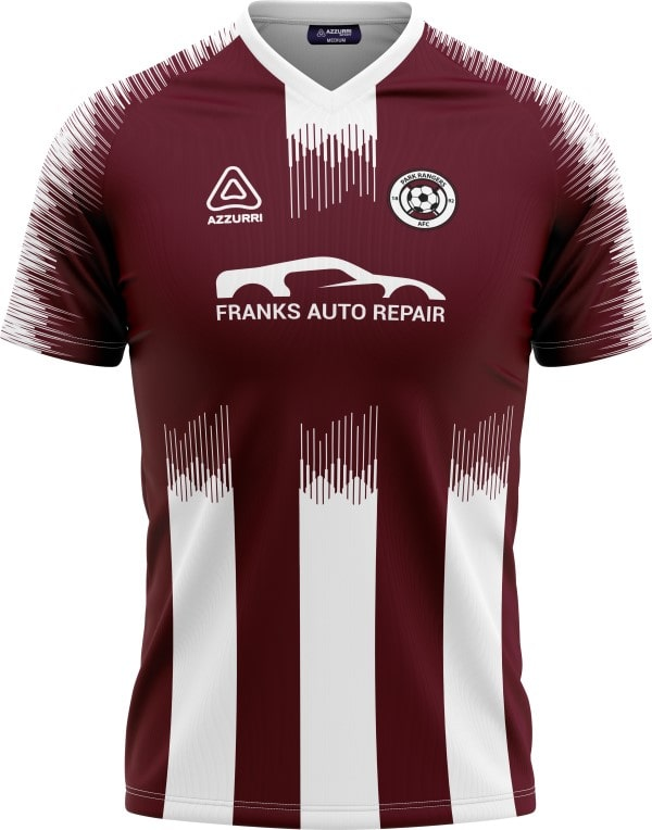 Soccer Jersey SO054 Maroon White
