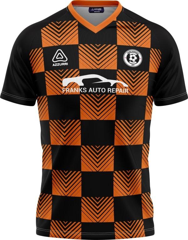 Soccer Jersey SO059 Orange Black