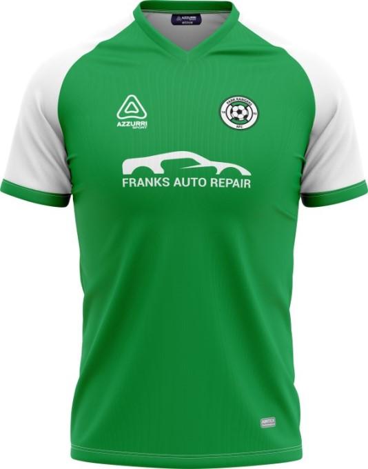 Soccer Jersey SO250 Emerald White