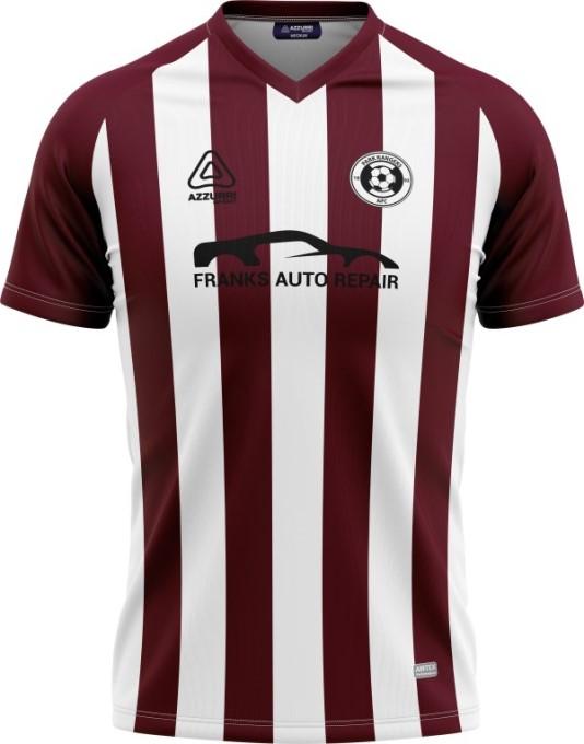 Soccer Jersey SO253 Maroon White