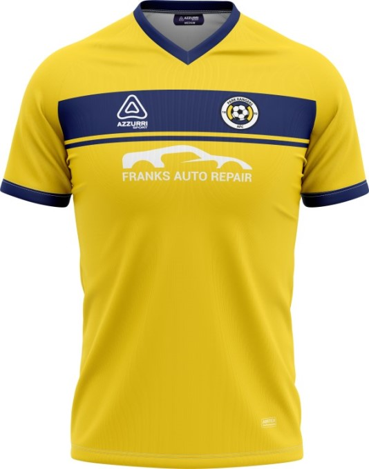 Soccer Jersey SO255 Yellow Navy