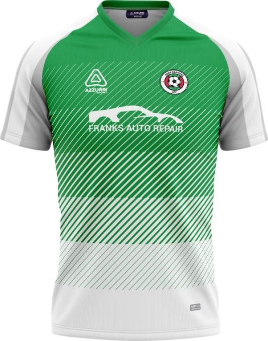Soccer Jersey SO260 Emerald White