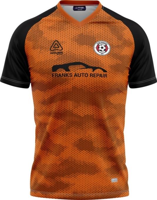 Soccer Jersey SO264 Orange Black