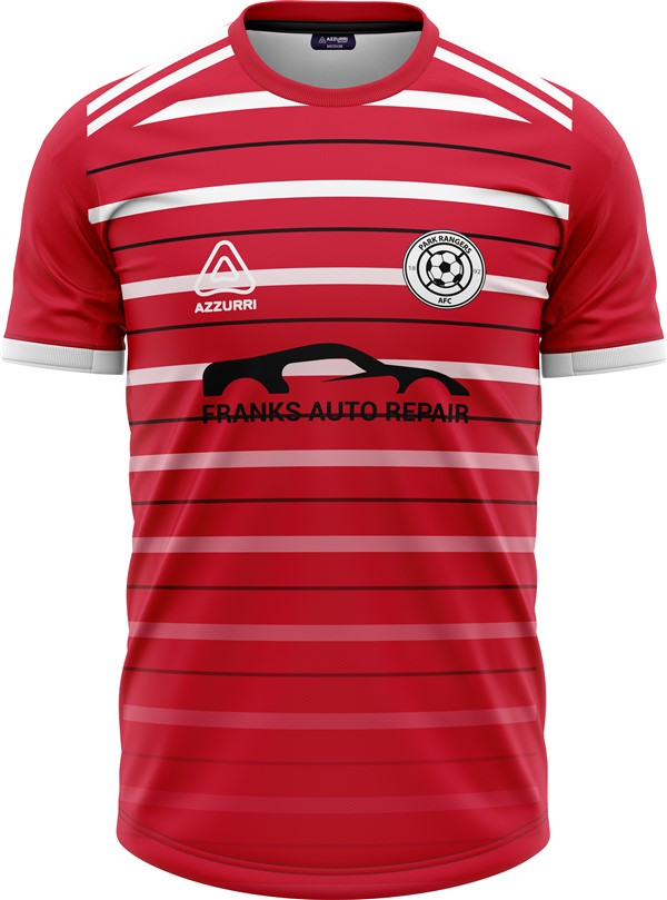 Soccer Jersey SO267 Red White