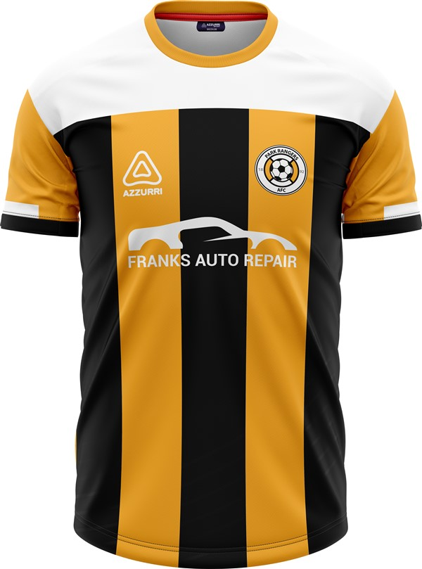 Soccer Jersey SO268 Gold Black