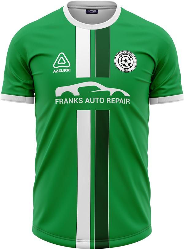 Soccer Jersey SO299 Emerald White