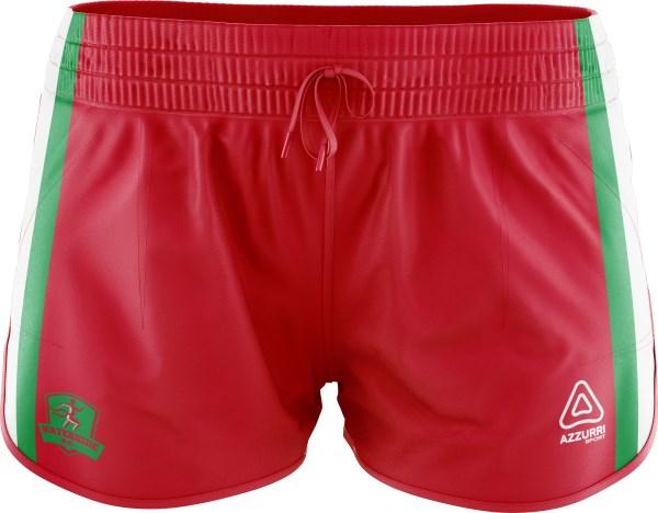 Athletic Shorts SA101 Red Emerald