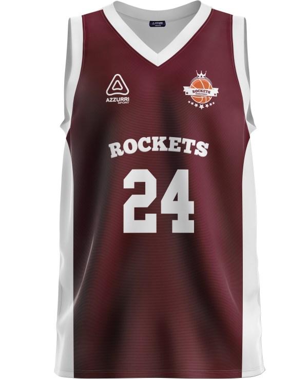 Basketball Jersey BJ001 Maroon White