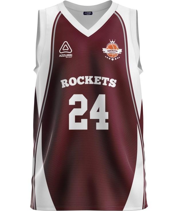 Basketball Jersey BJ008 Maroon White