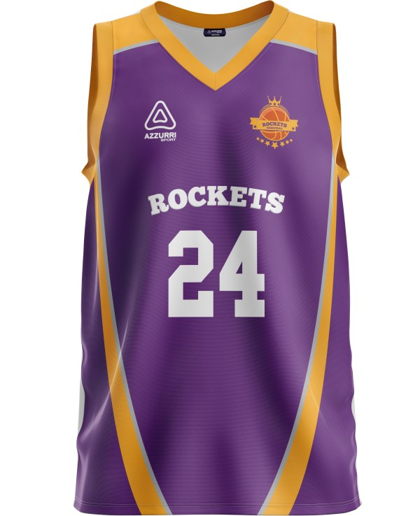 Basketball Jersey BJ011 Purple Gold