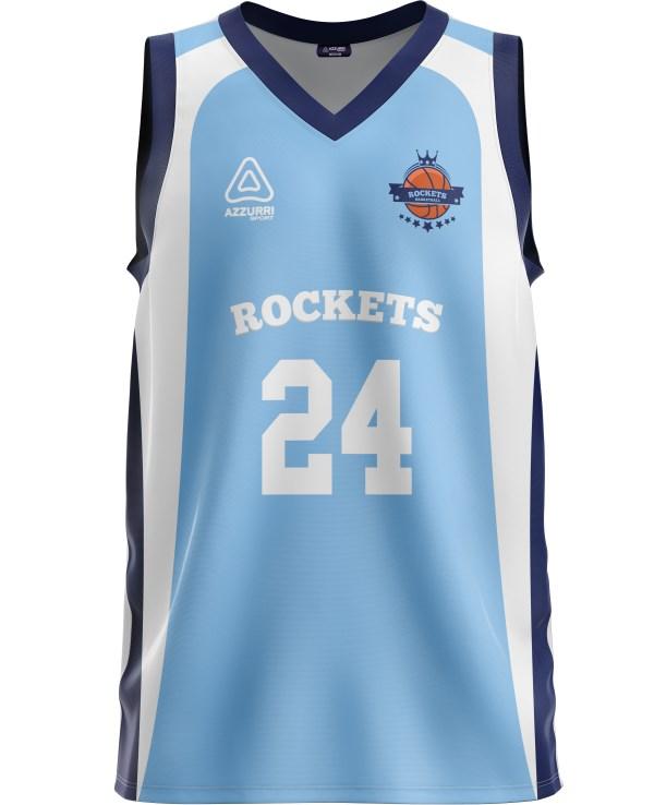 Basketball Jersey BJ022 Sky Navy