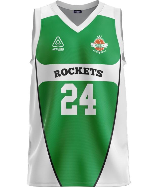 Basketball Jersey BJ023 Emerald White