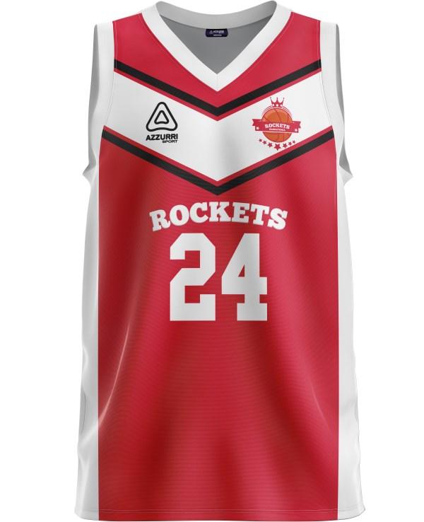 Basketball Jersey BJ024 Red White
