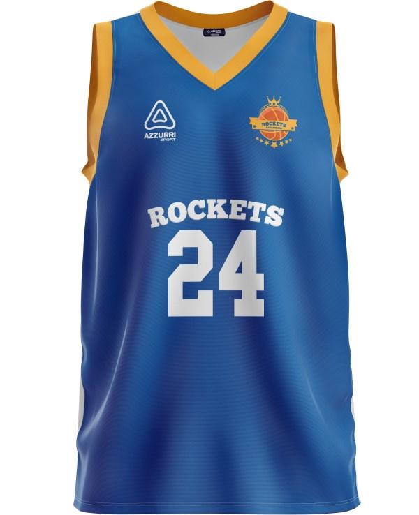 Basketball Jersey BJ033 Royal Gold