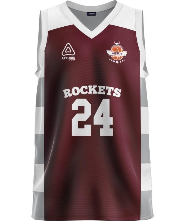 Basketball Jersey BJ034 Maroon White