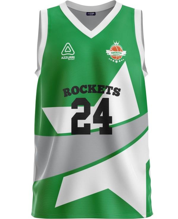 Basketball Jersey BJ035 Emerald White