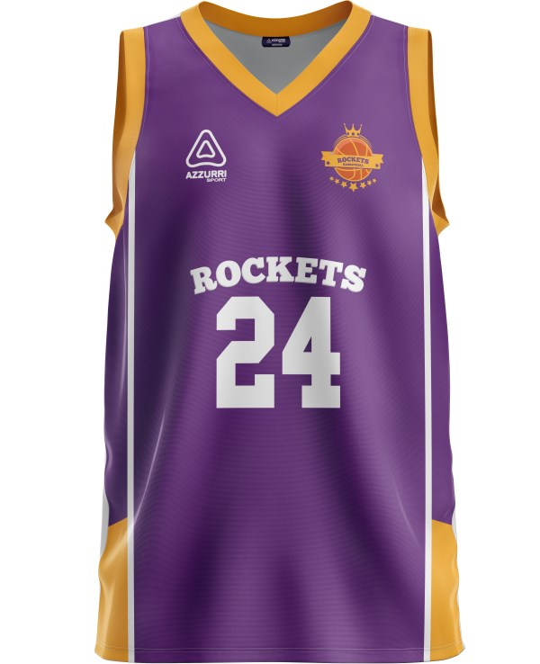 Basketball Jersey BJ037 Purple Gold