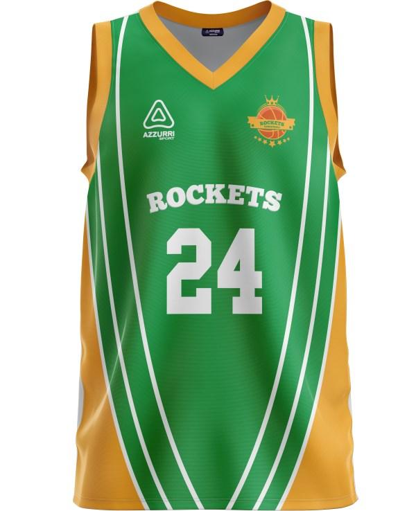 Basketball Jersey BJ038 Emerald Gold