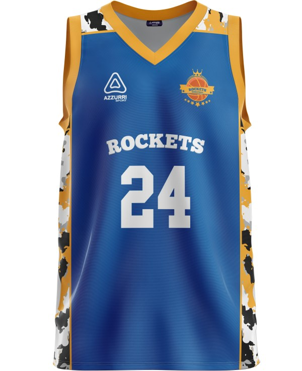 Basketball Jersey BJ039 Royal Gold