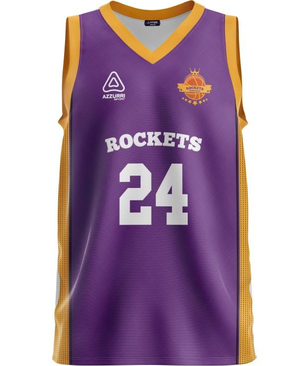 Basketball Jersey BJ041 Purple Gold