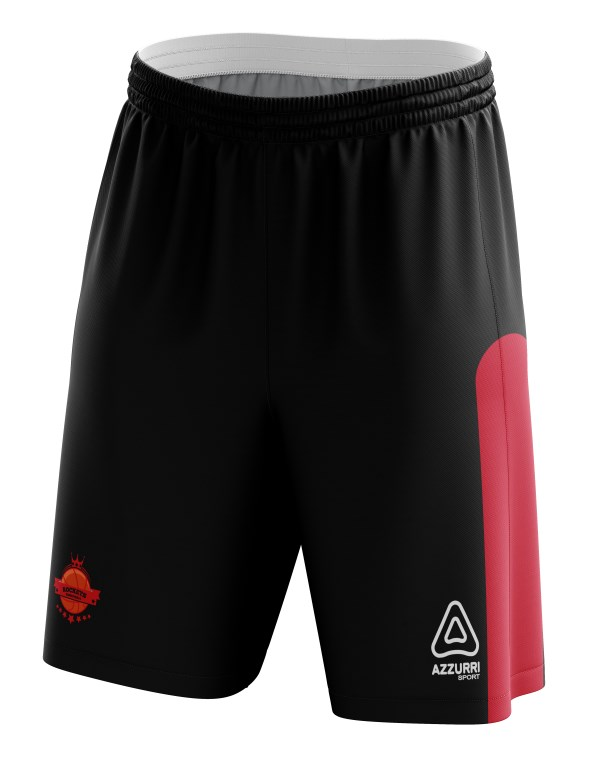 Basketball Shorts BS001 Black Red