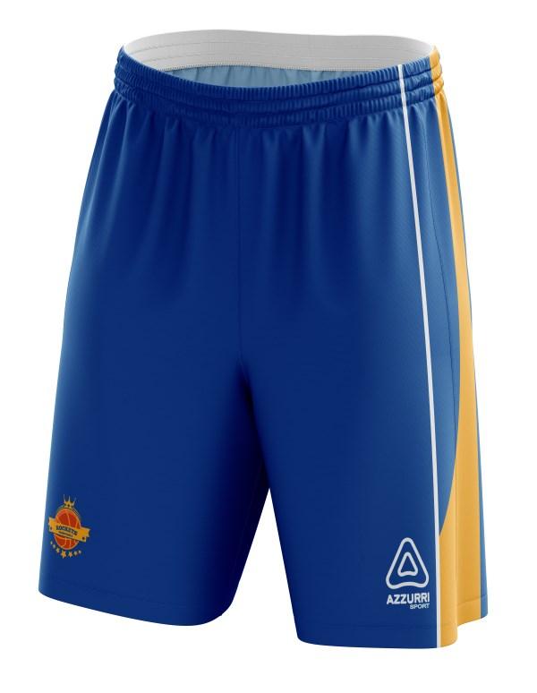 Basketball Shorts BS003 Royal Gold