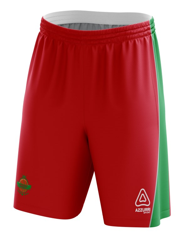Basketball Shorts BS011 Red Emerald