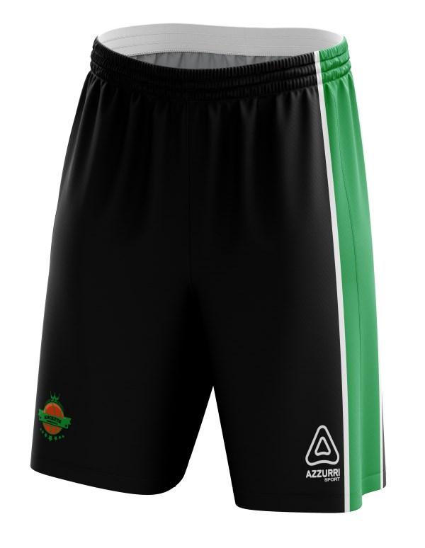 Basketball Shorts BS021 Black Emerald