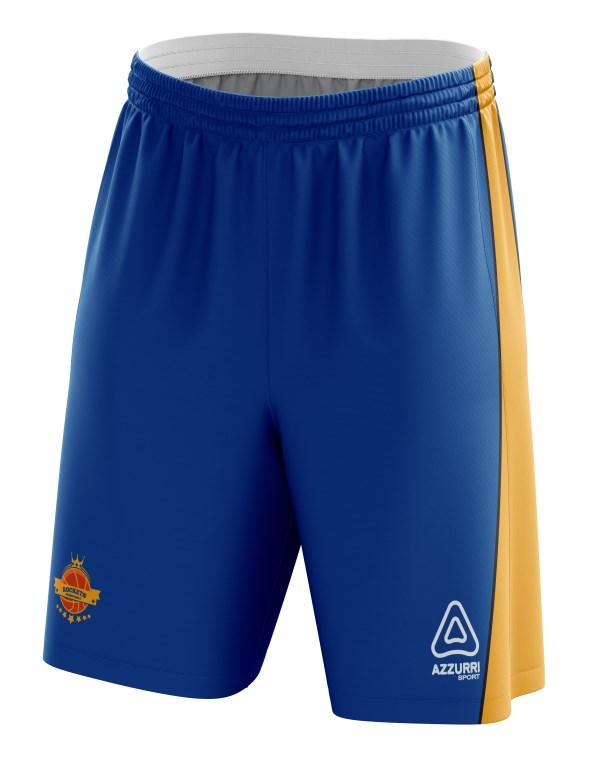 Basketball Shorts BS033 Royal Gold