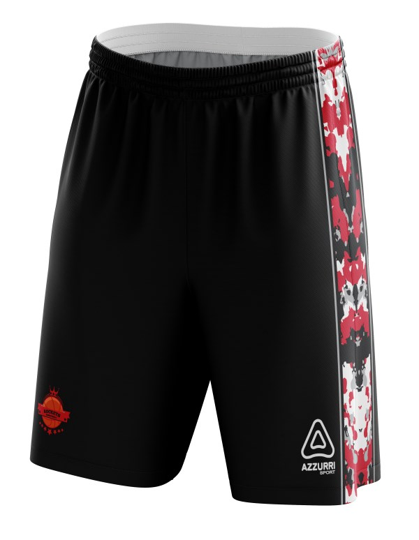 Basketball Shorts BS039 Black Red