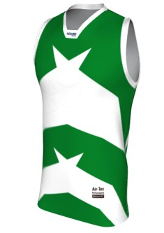 AussieRules Singlet AR023 Emerald White
