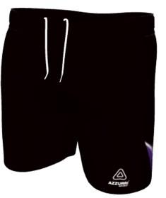 AussieRules Shorts SAR023 Black Purple White