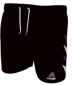 AussieRules Shorts SAR025 Black Purple White