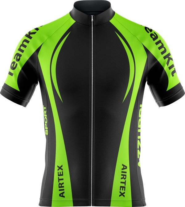 Cycling Top CY010 Black HiVisGreen