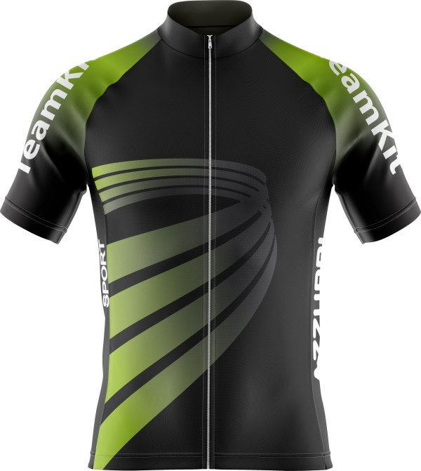 Cycling Top CY011 Black HiVisGreen