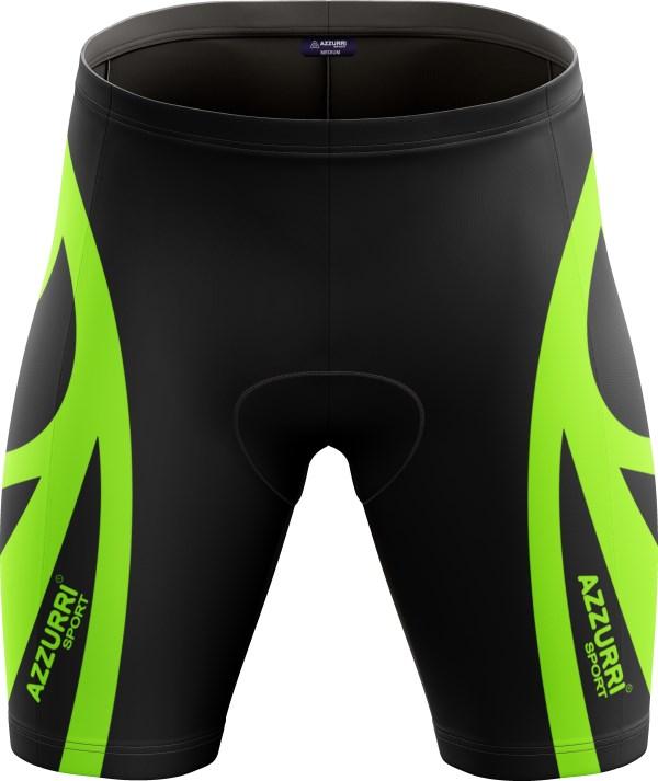 Cycling Shorts CS013 Black HiVisGreen